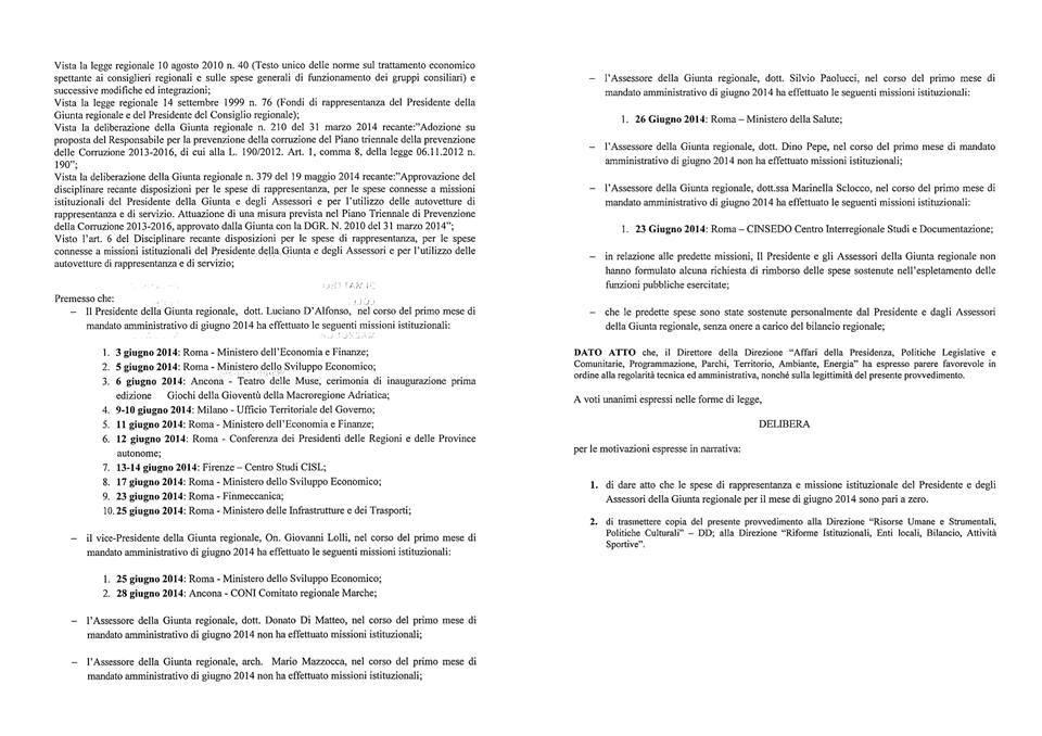 DGR 501 del 29.07.2014 Misura anti-privilegio -giugno 2014. e pag